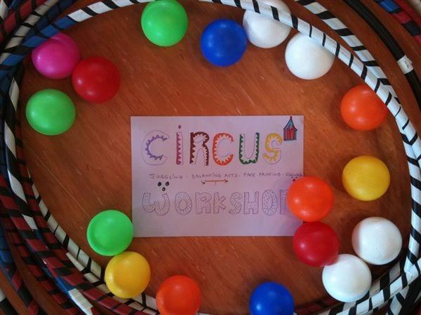 Un circo en el campamento ingles