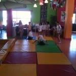 Gimnasia en el campamento de verano ingles Alhaurin de la Torre, Malaga