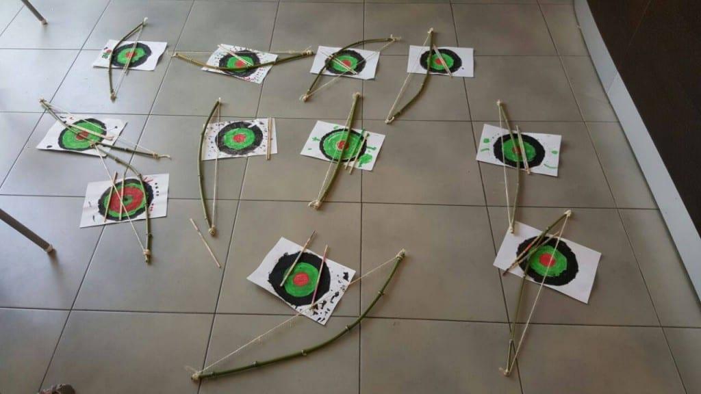 taller de arcos con flechas