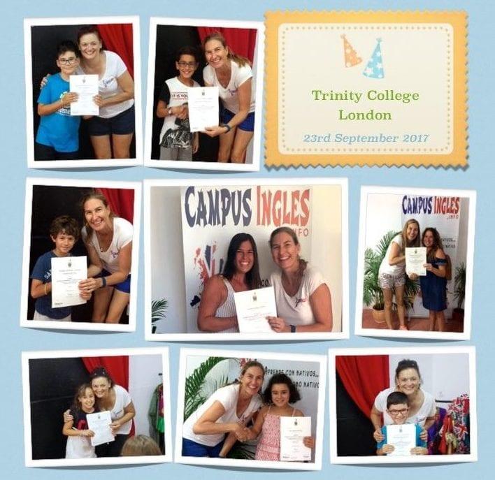 Entrega de certificados de Trinity College London 2017