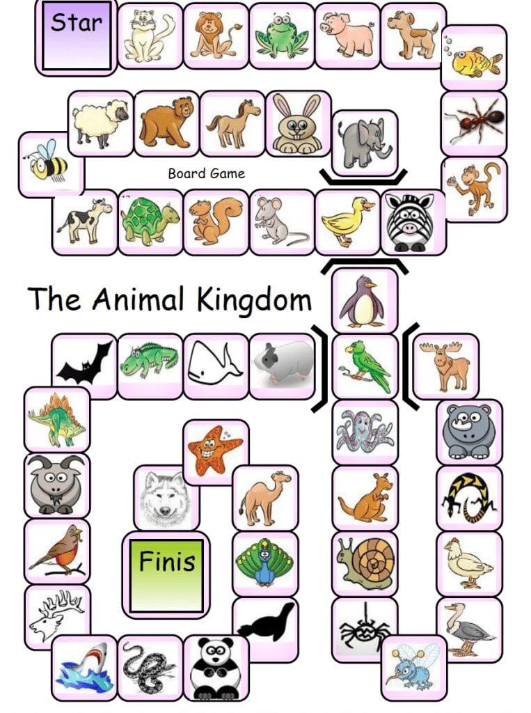 Animal kingdom boardgame
