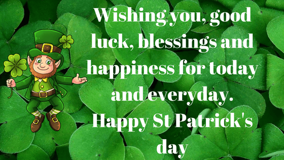 Happy Saint Patrick's day March 17th 2018