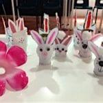 conejos con rollos de papel higienico
