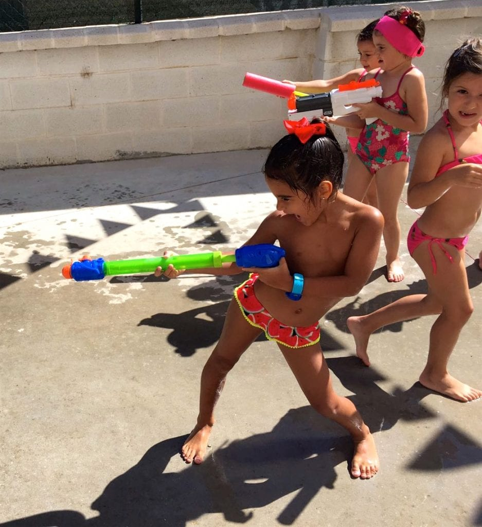 fun and water games at summer camp 2018