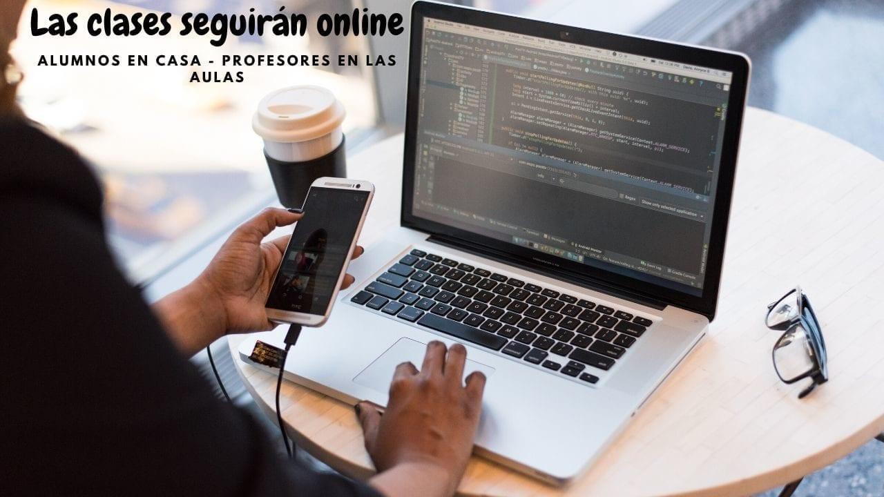 Seguiremos las clases online
