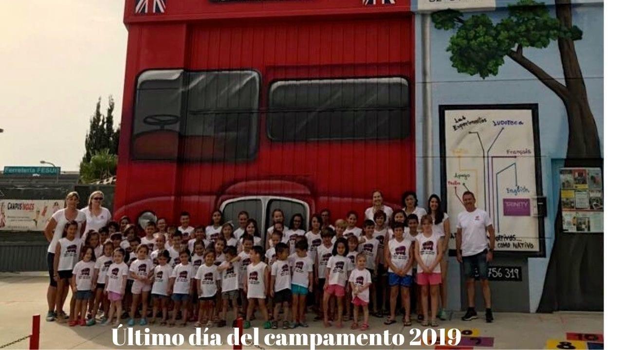 Ultimo dia del campamento de verano 2019