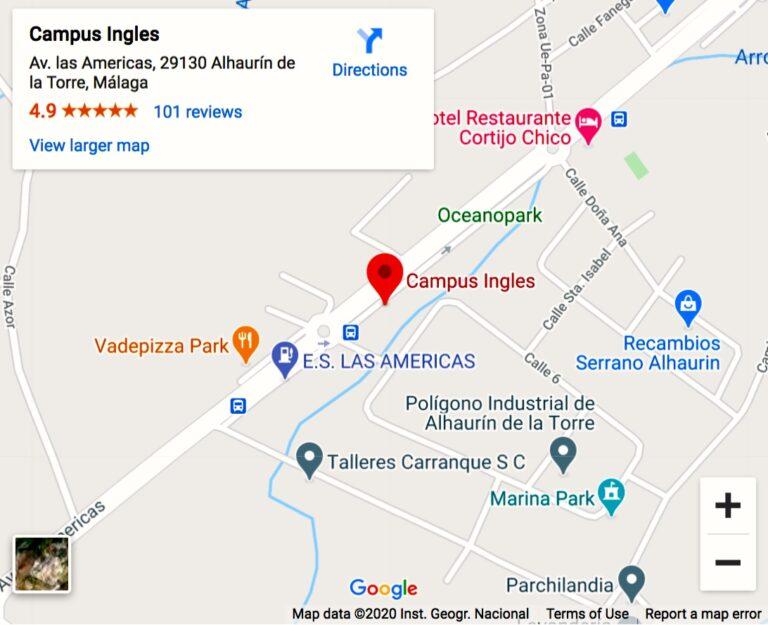 localización google mapas