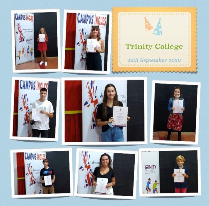 Entrega de certificados Trinity College London