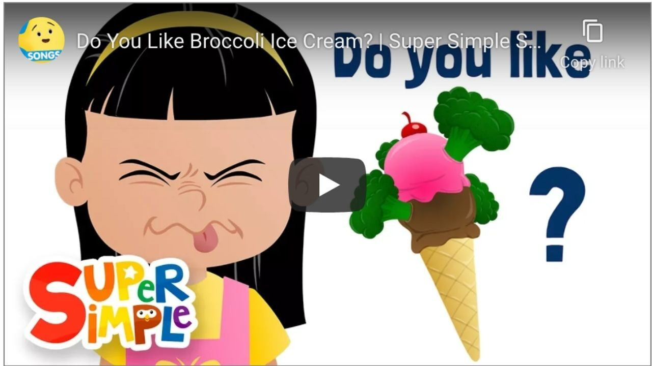 Do you like broccoli icecream?